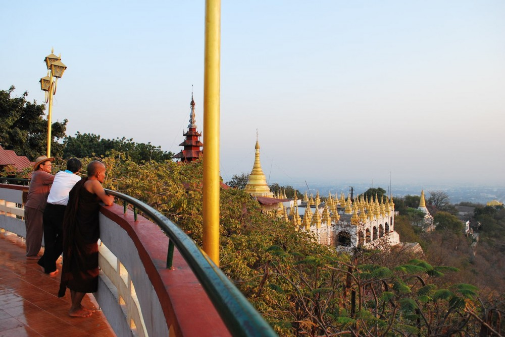 sunset on top of Mandalay Hill
