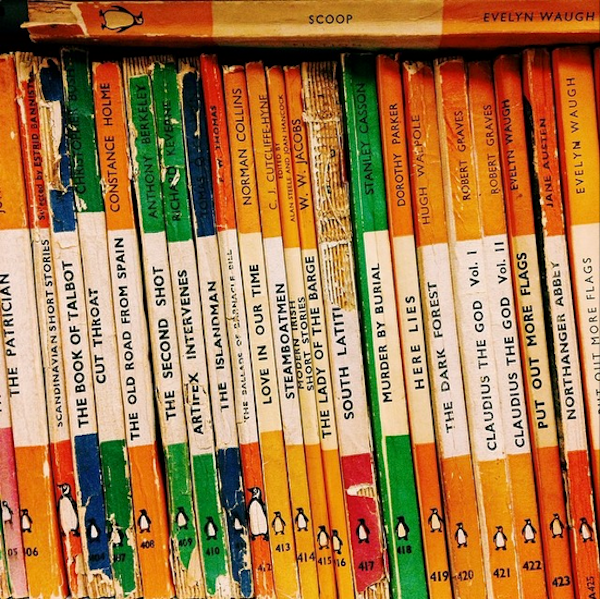 Row of Penguin Books