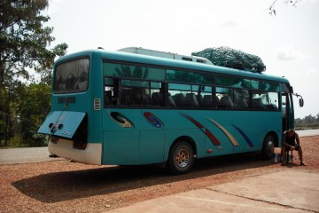 'VIP' bus in Laos