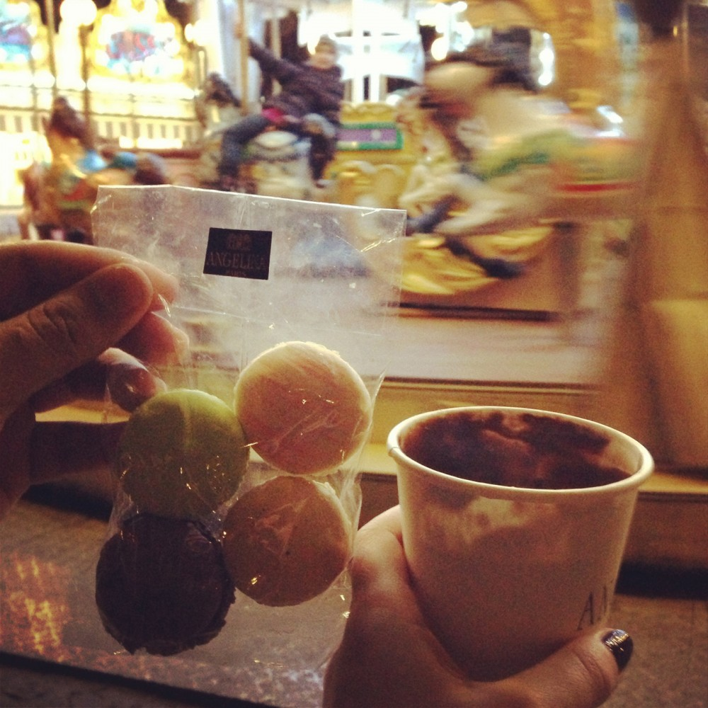 Angelina Hot Chocolate and Carousel Paris