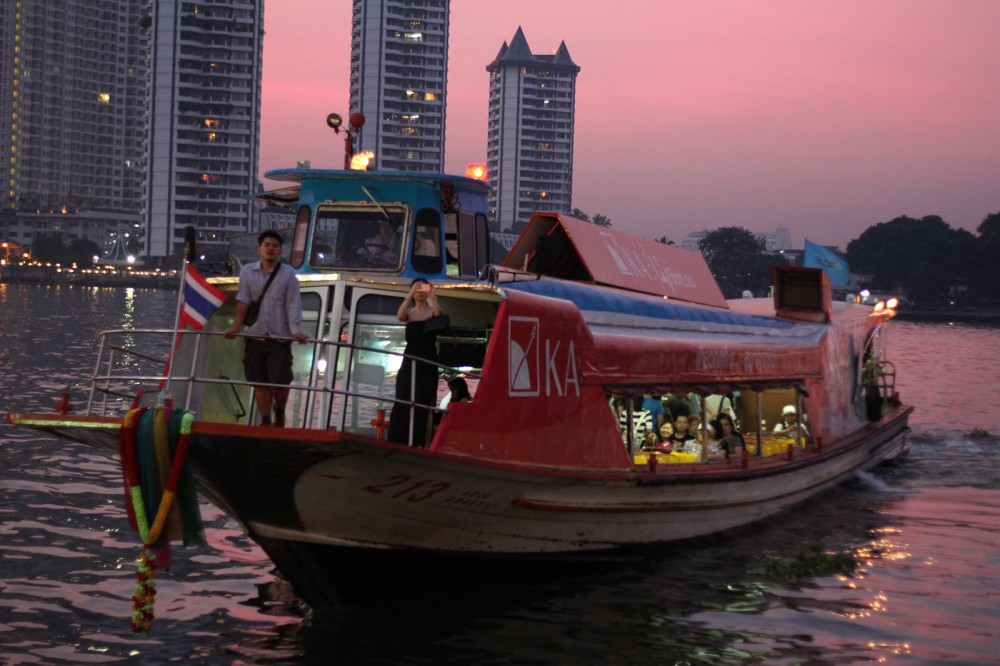 Boat on Chao Praya River