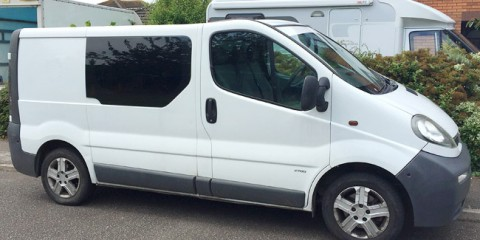 Deborah the van we are converting into a campervan
