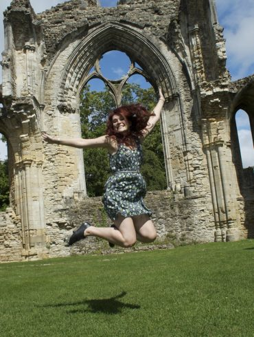 Jumping at Netley Abbey