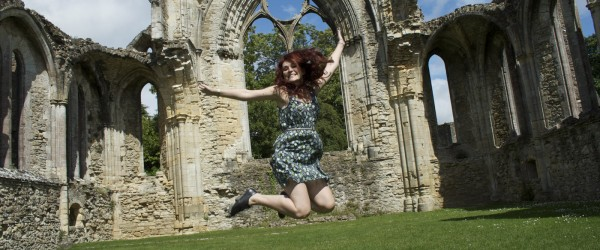 Jumping at Netley Abbey