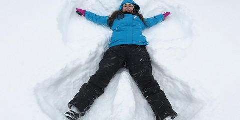 Making snow angels