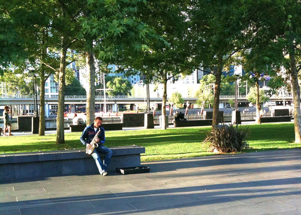 Melbourne Southbank Saxophone