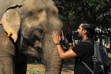 Raj with Granny Elephant