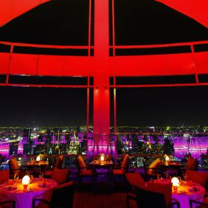 Bangkok Rooftop Bar red sky
