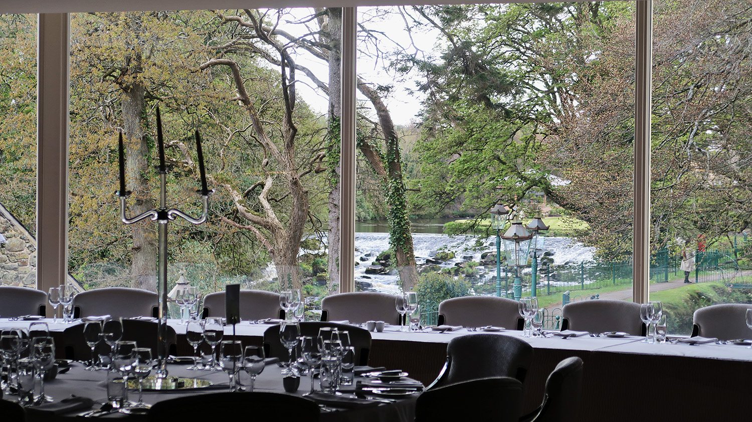 River view from inside the restaurant