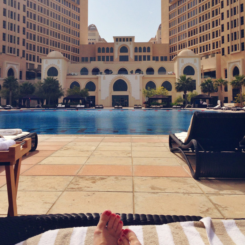 Sunbathing at St Regis