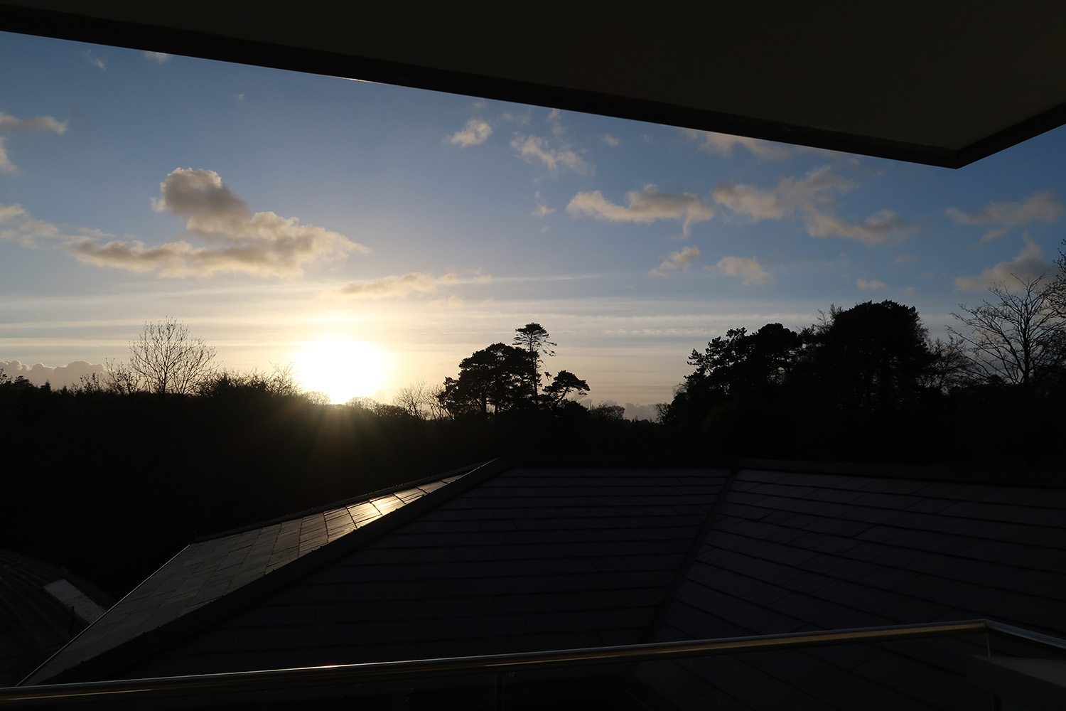 Sunset view from the suite at the Galgorm