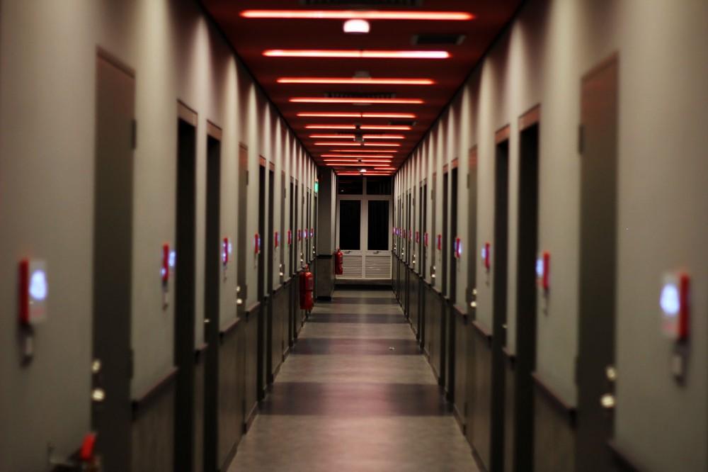 Tune Hotel corridor