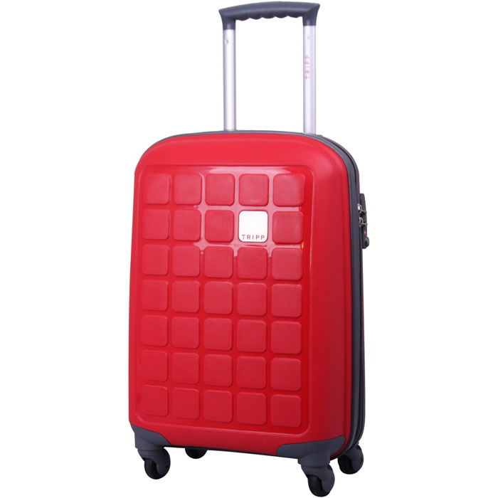 awesome wave red hand luggage suitcase