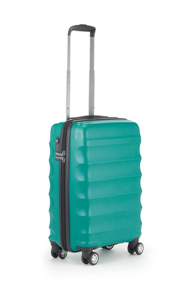 awesome wave teal suitcase