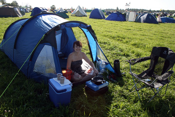 Camping at Womad