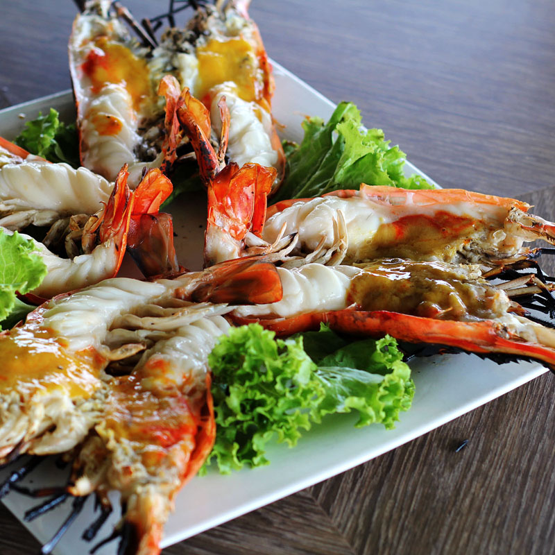 prawns in ayutthaya